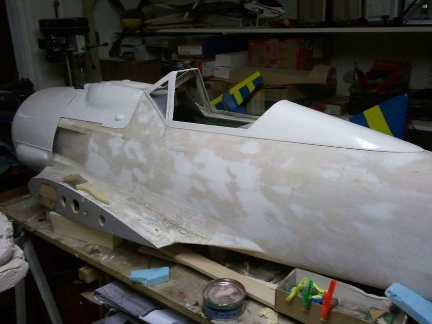 FW 190 3ème partie, moulage des montants de verrière