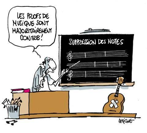 Suppression des notes