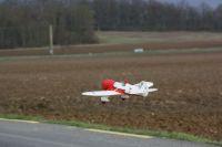 Petit Gee-Bee en vol à Vaux Le Pénil le 3 janvier 2010
