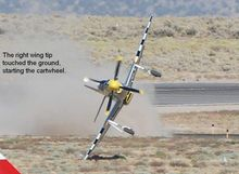 P 51 Reno air Race Landing crash P 51, Reno Air Race