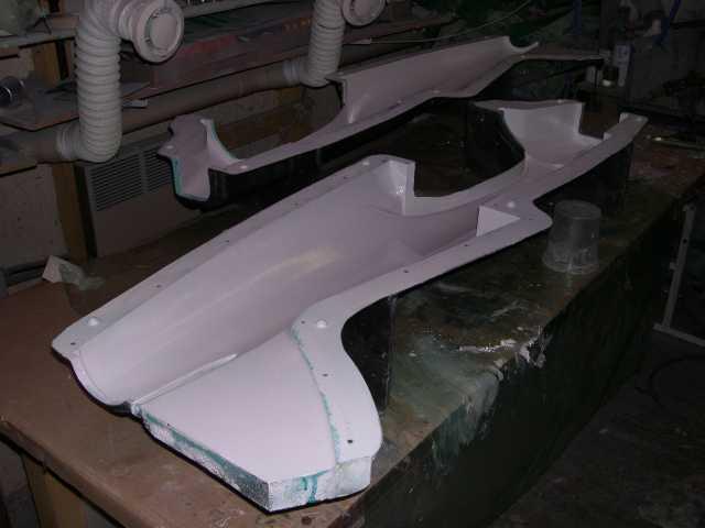 après vernis et gel coat voici un moule prêt à l'usage