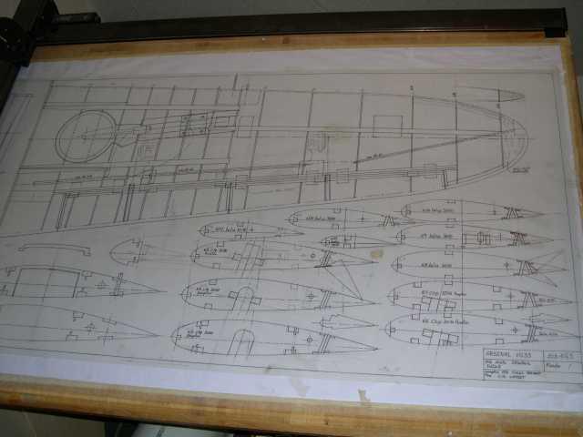 plan de construction de l'aile droite conception de mon ami François FERMAUT
