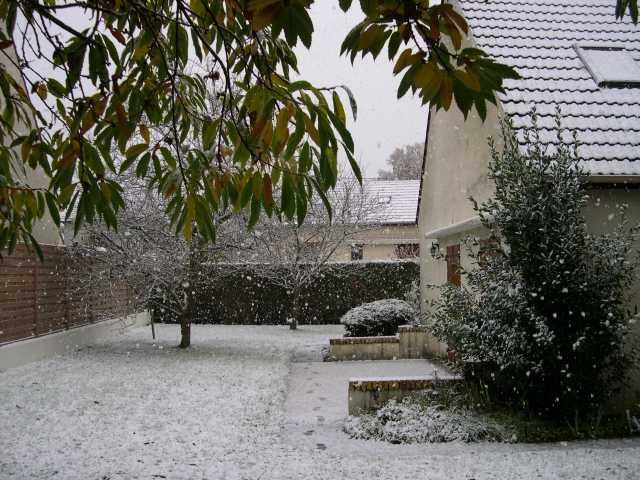 A Itteville il y a déjà de la neige si si !!