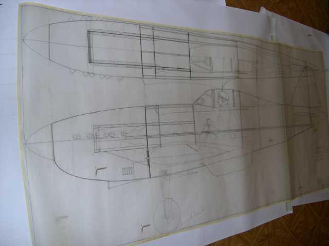 """plan du fuselage pour une construction """"tout bois"""" ( si, si, il reste des constructeurs!!)"""