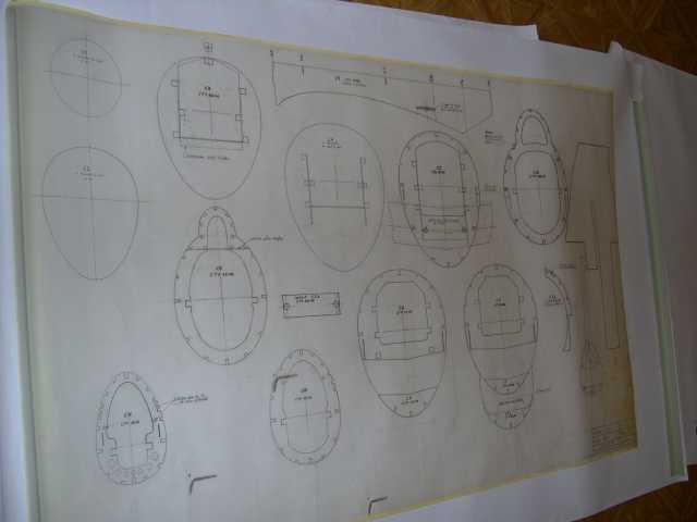 plan des différents cadres ou couples pour la construction bois